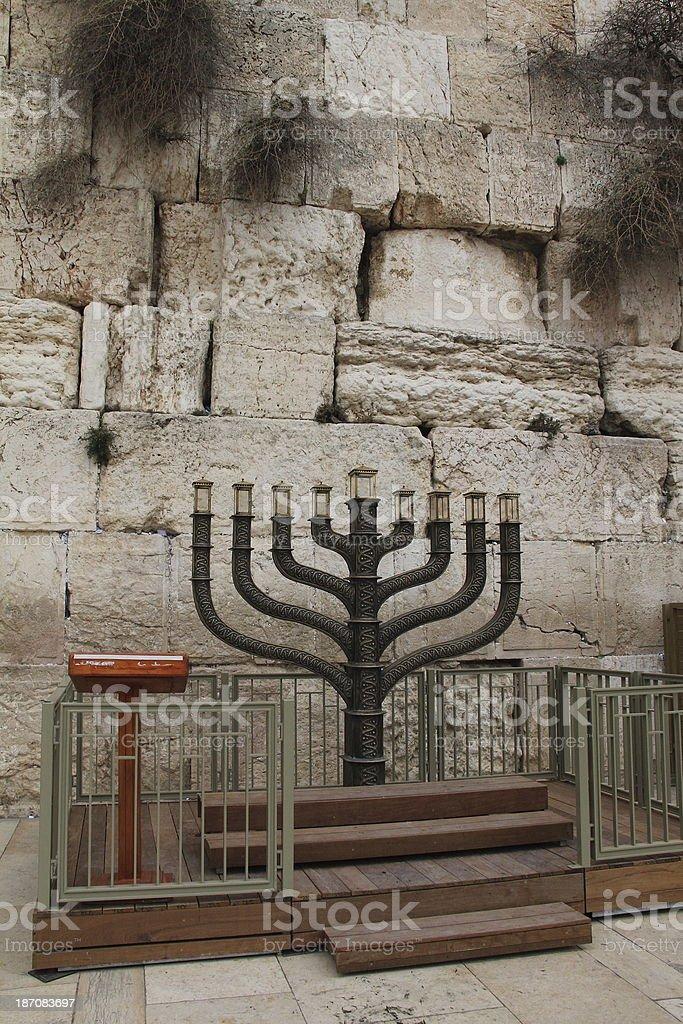 Big menorah royalty-free stock photo
