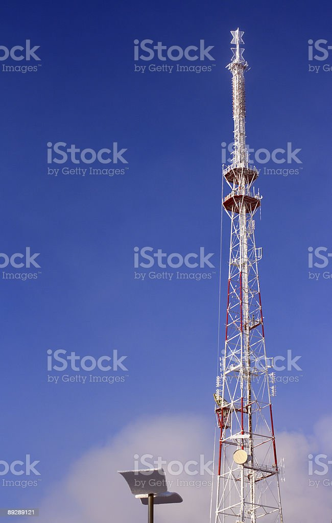 big metallic tv radio tower royalty-free stock photo