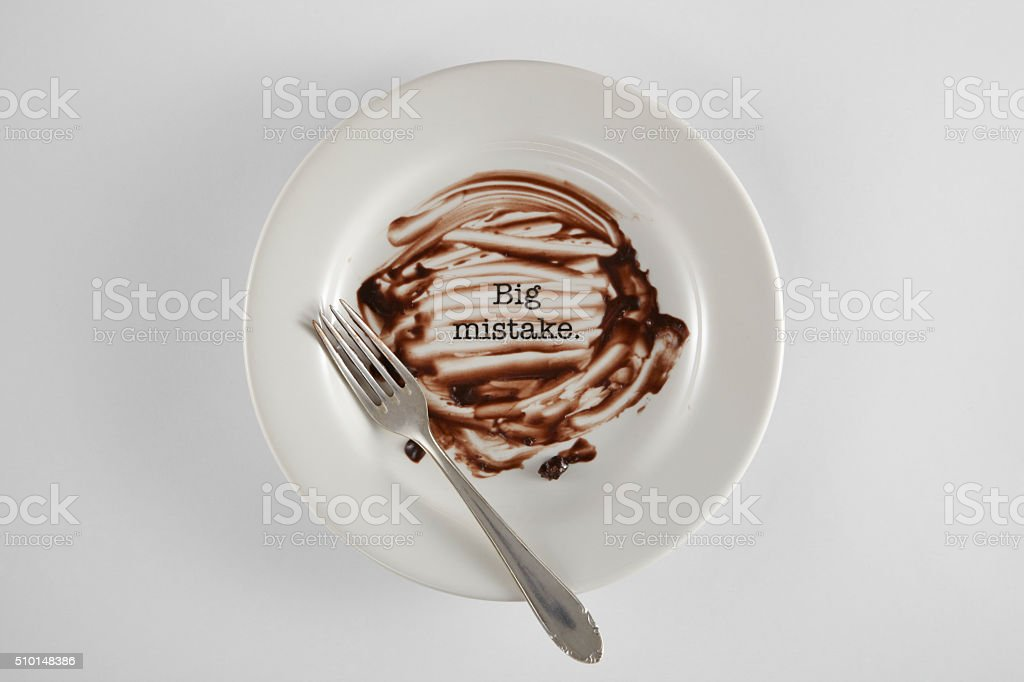 big mistake stock photo