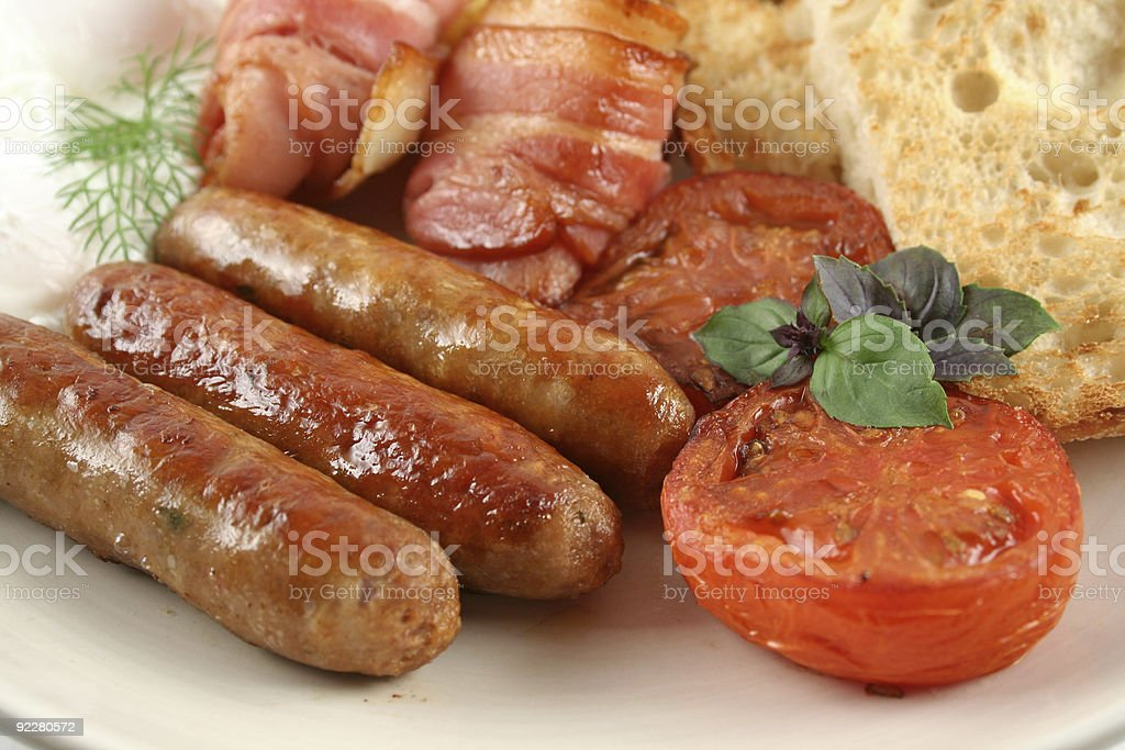 Big Mixed Grill Breakfast royalty-free stock photo