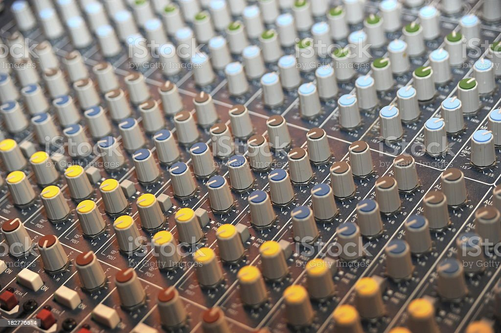 big mixing desk royalty-free stock photo