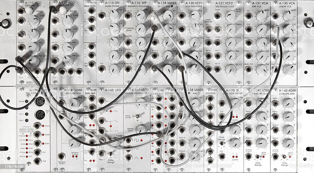 big modular synth royalty-free stock photo