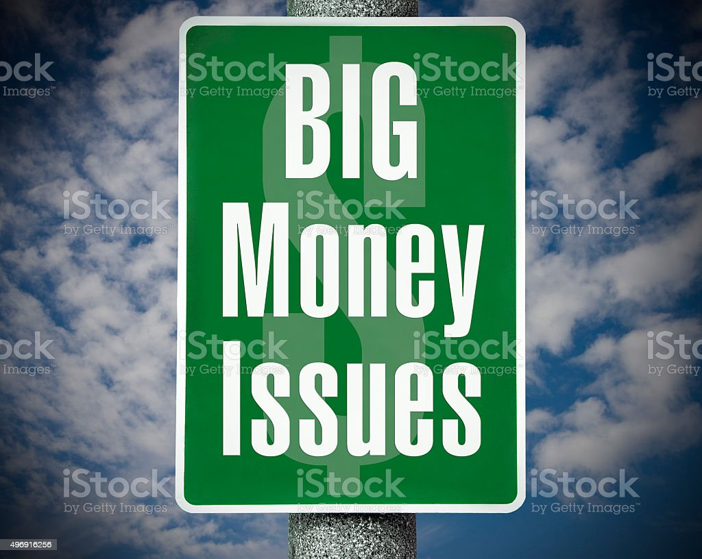 Big Money Issues stock photo