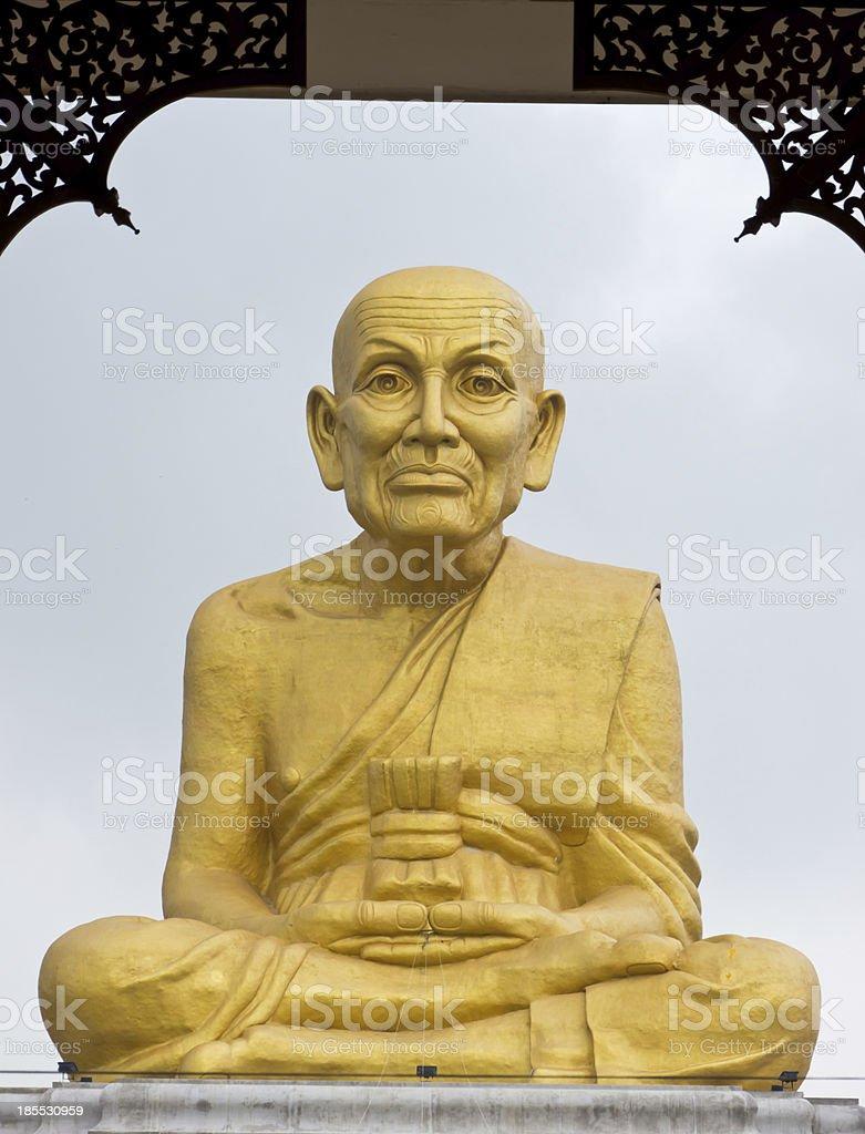 Big monk statue royalty-free stock photo