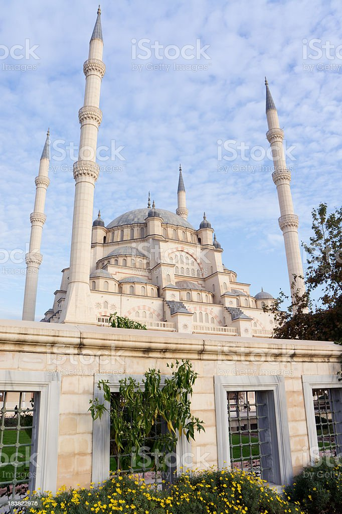 Big mosque in Turkey stock photo