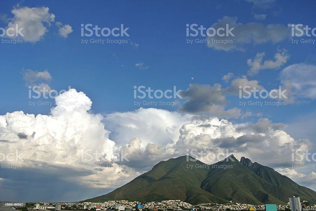 Big mountain in Mexico stock photo