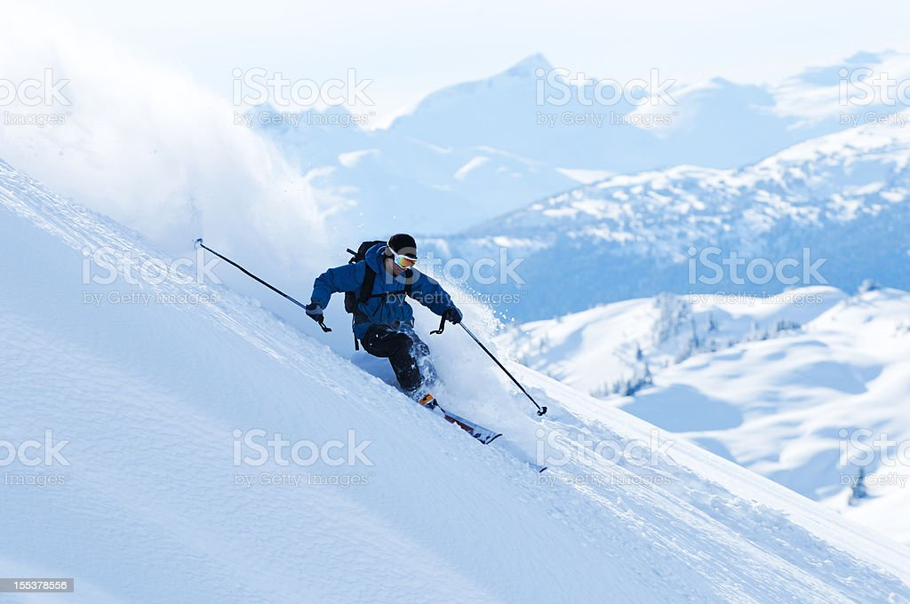 Big Mountain Skiing royalty-free stock photo