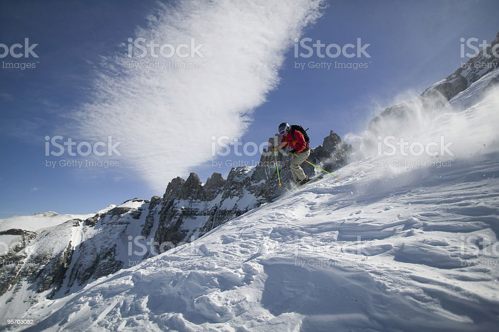 Big mountain winter snow skiing royalty-free stock photo