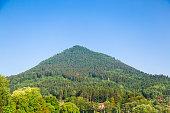 Big mountain with green trees like a jungle. Slovakia.