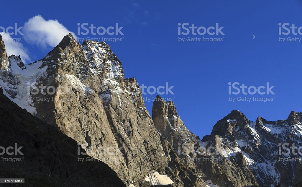 Big mountains & Blue sky royalty-free stock photo
