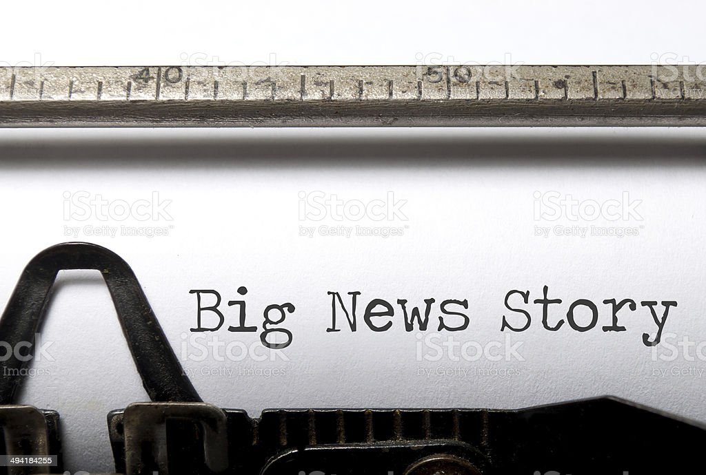 Big news story stock photo