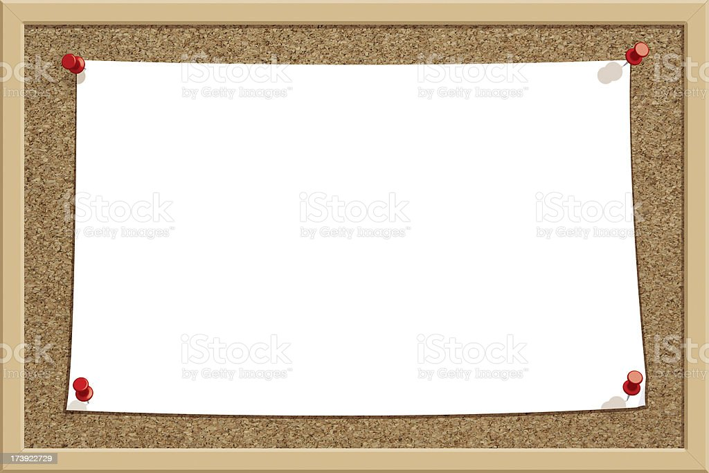 Big Note Corkboard - Horizontal royalty-free stock photo