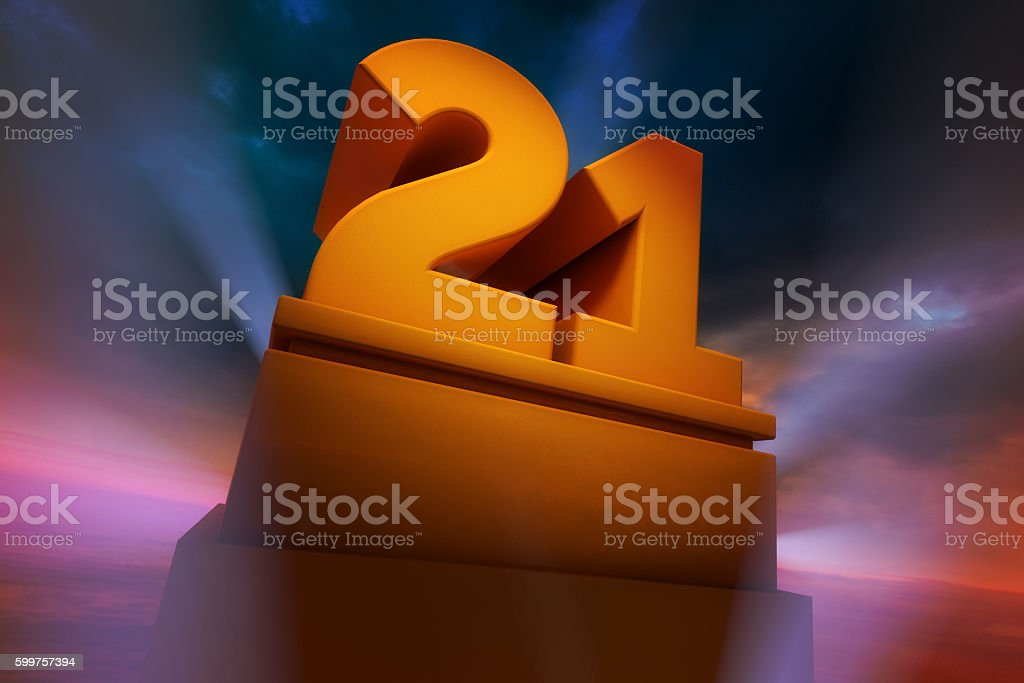 Big Number 21 stock photo