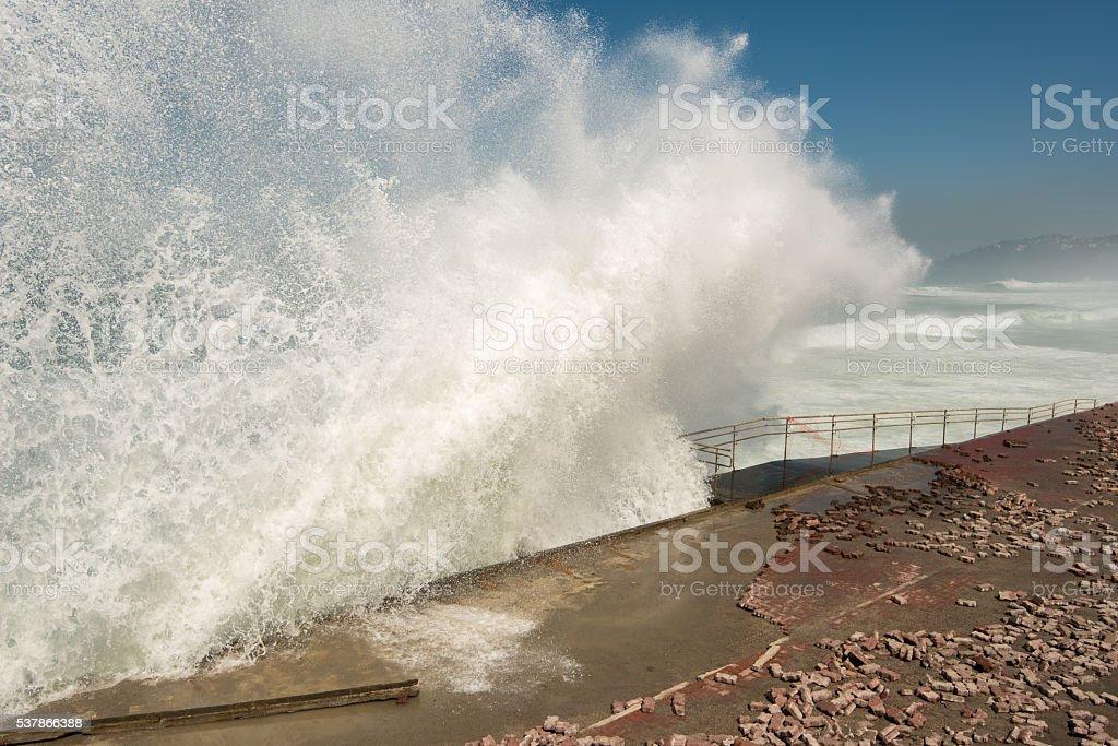 Big Ocean Waves stock photo