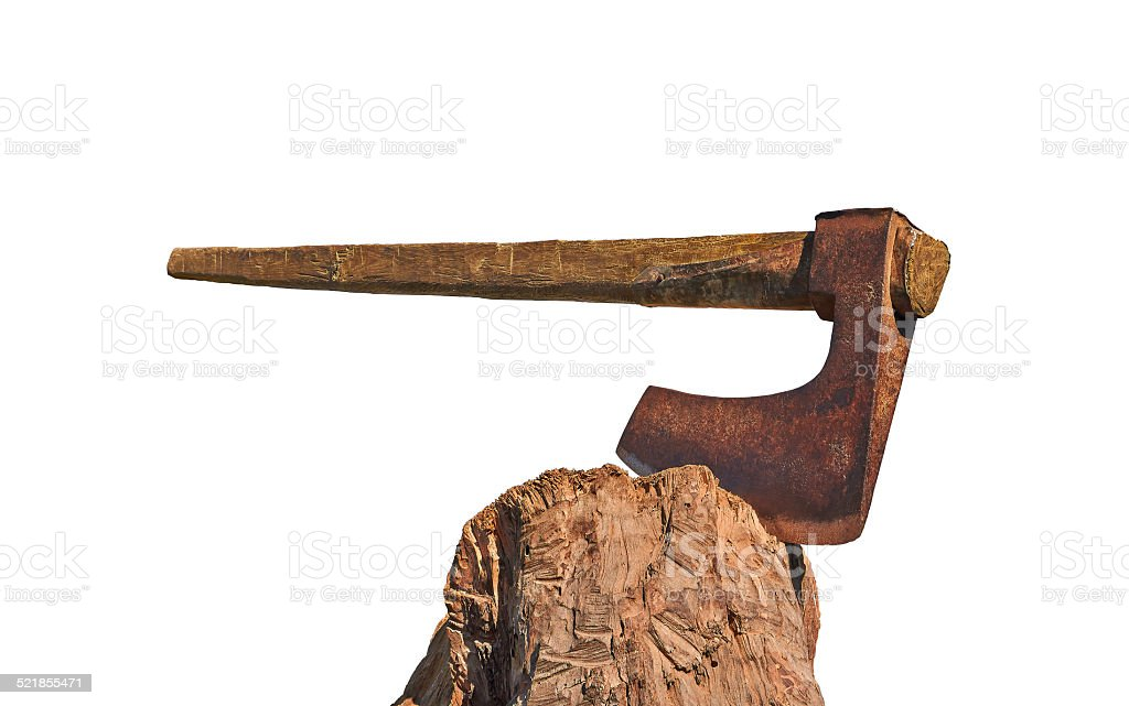 big old and rusty ax royalty-free stock photo