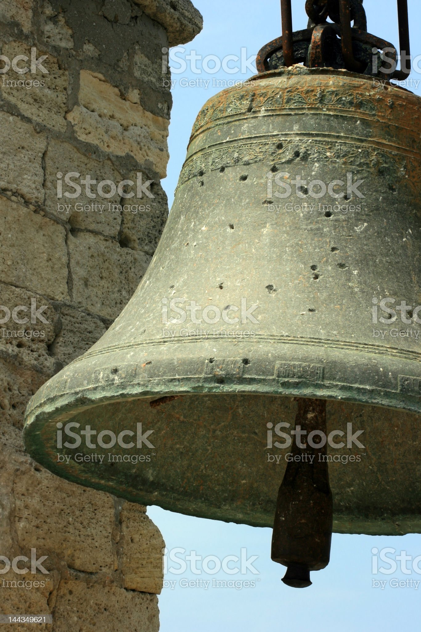 Big old bell in Crimea, Ukraine royalty-free stock photo
