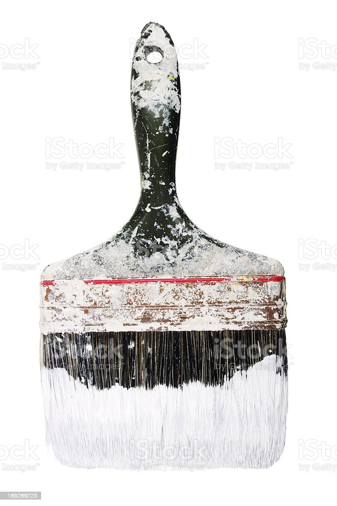 Big Old Paintbrush Dipped In Paint stock photo