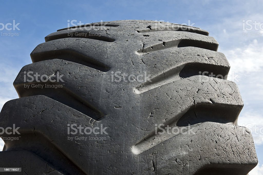 Big Old Truck Tired Tyre royalty-free stock photo