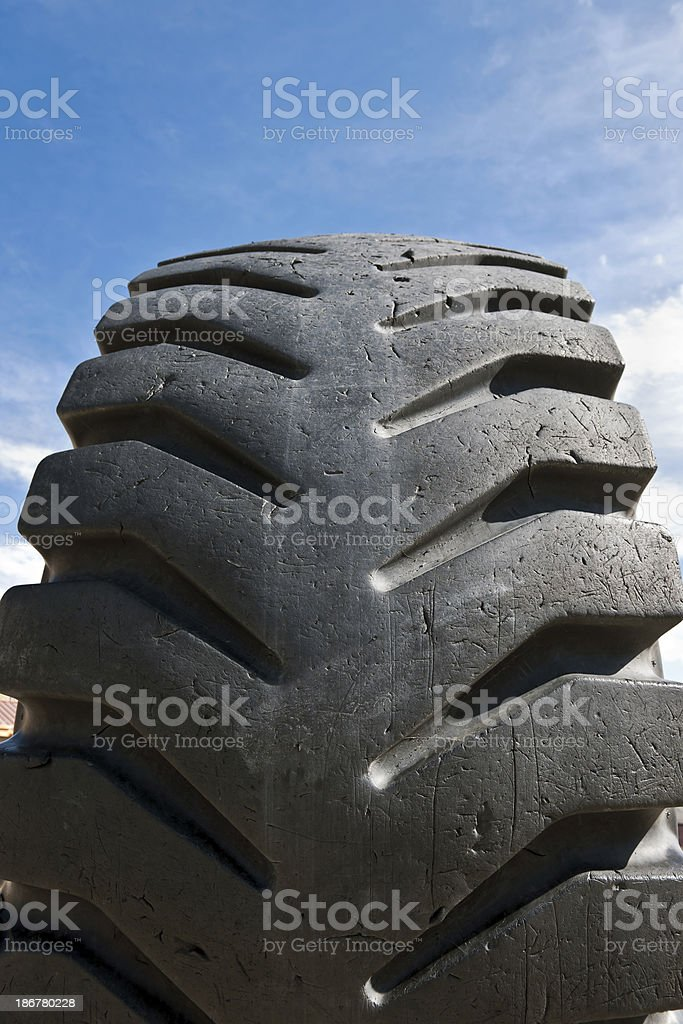 Big Old Truck Tyre royalty-free stock photo