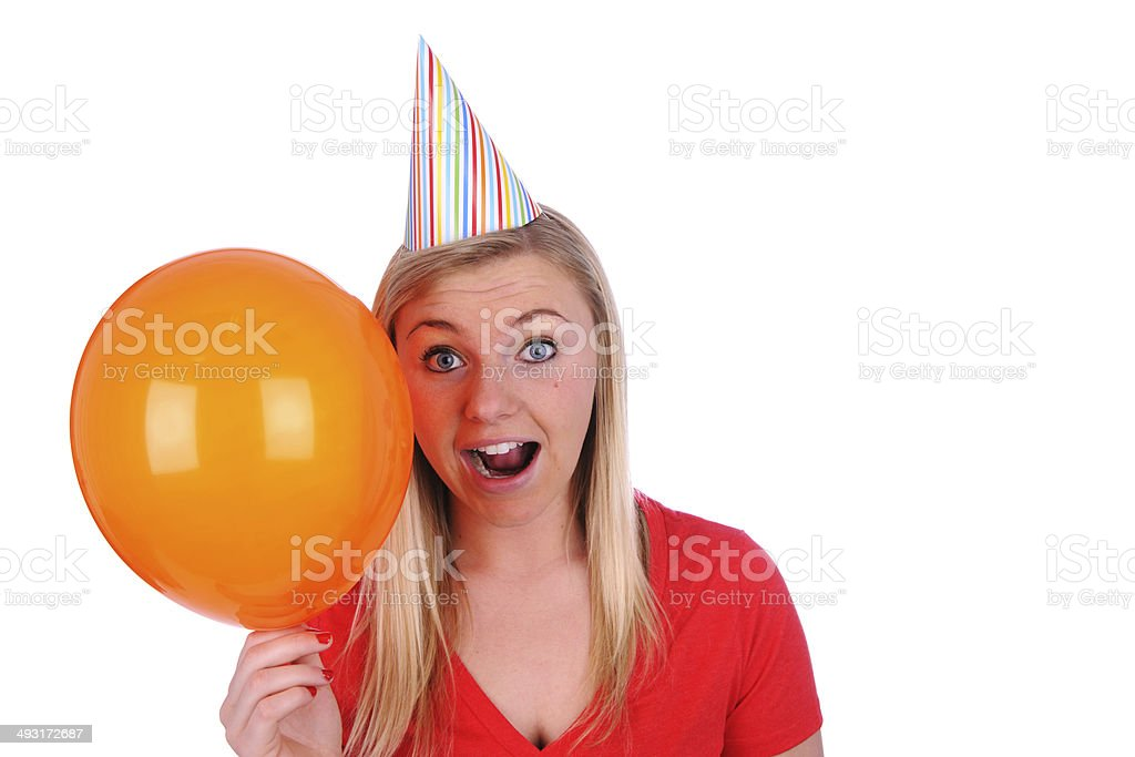 Big Orange Balloon royalty-free stock photo