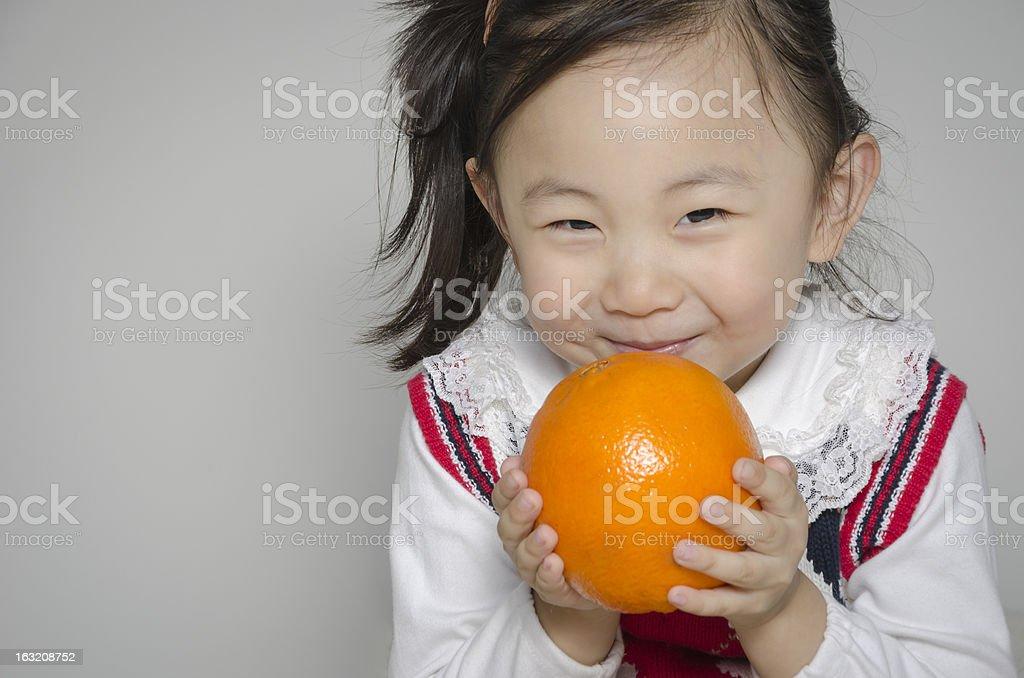 Big orange royalty-free stock photo