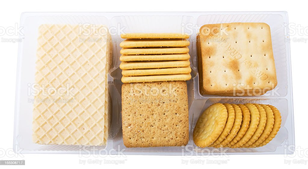 big pack of different crackers and cookies royalty-free stock photo