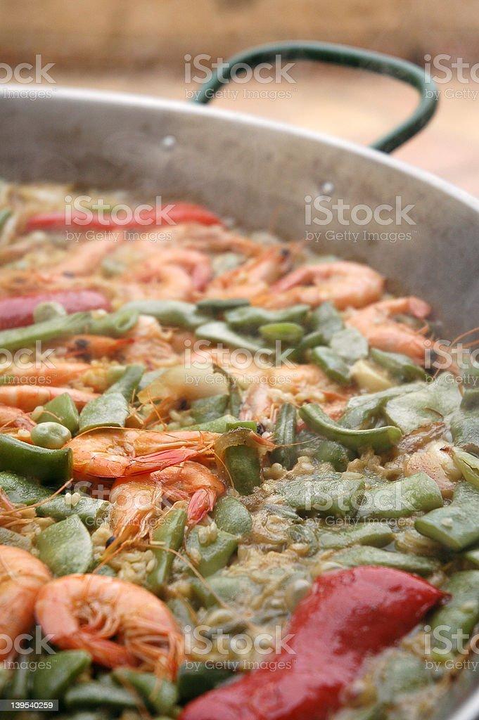 Big paella pan royalty-free stock photo
