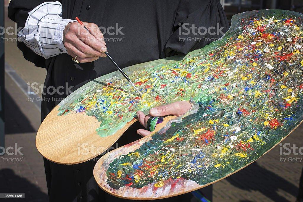 Big Paint pallet stock photo