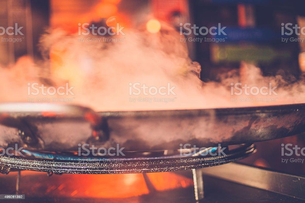 Big Pan and Steam at Camden Market, London, UK stock photo