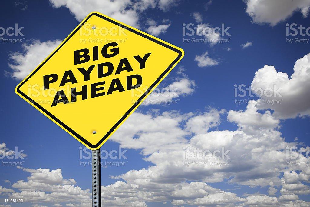 Big Payday Ahead royalty-free stock photo