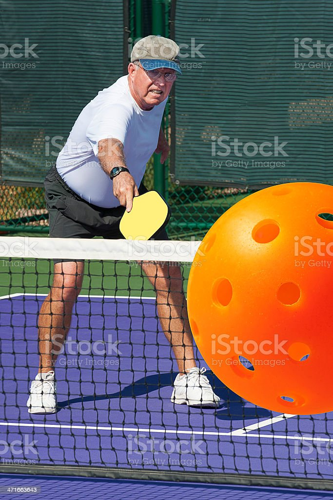 Big Pickleball Backhand royalty-free stock photo