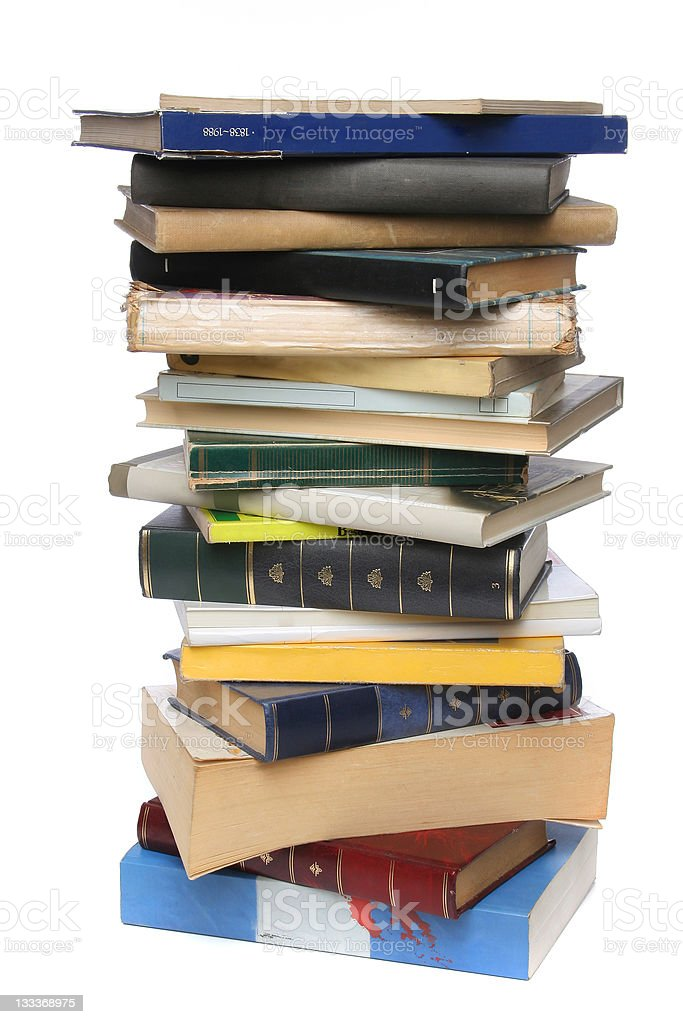 Big pile of books royalty-free stock photo