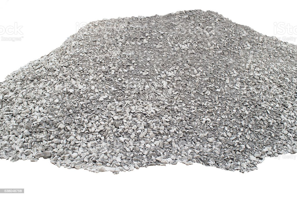 Big pile of crushed stones stock photo
