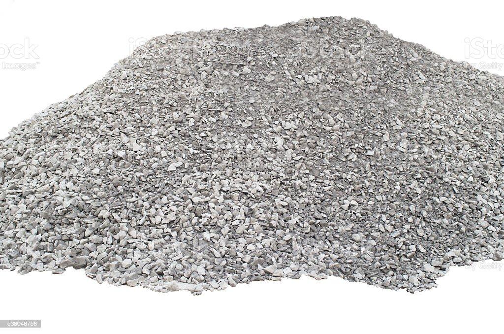 Big pile of crushed stones stock photo