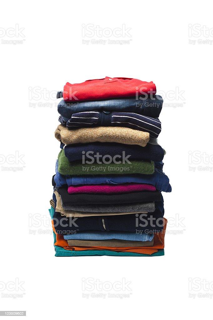 Big pile of laundry royalty-free stock photo