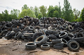 Big pile of old tires
