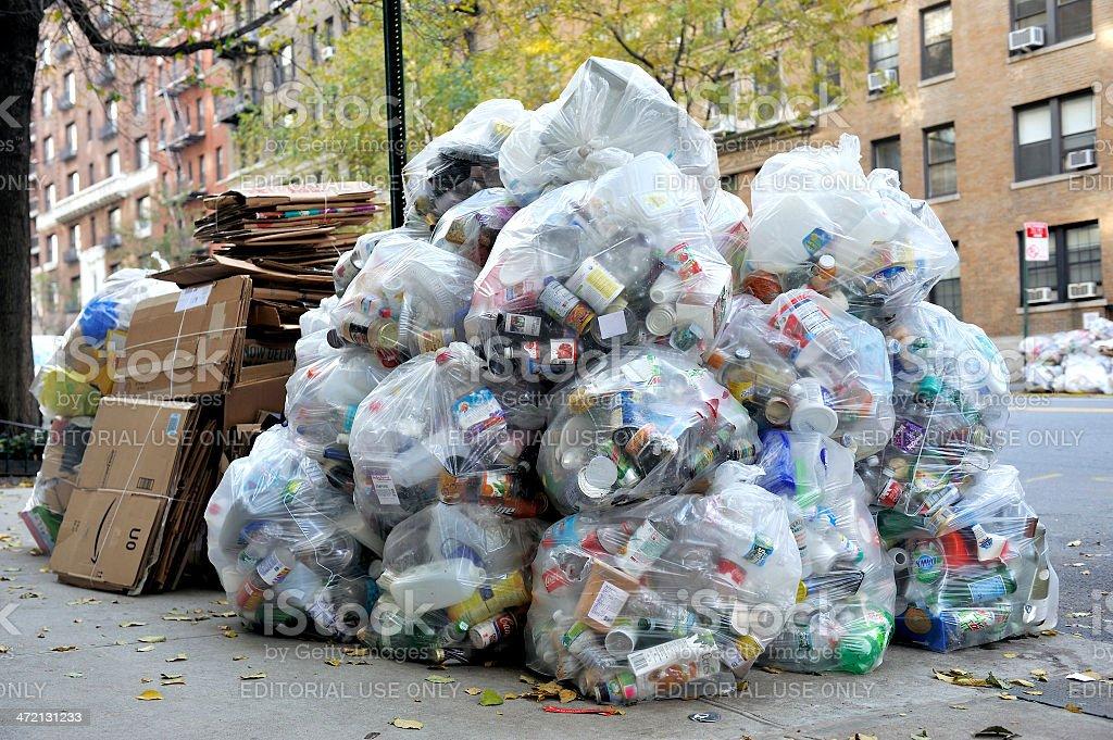 Big pile of waste garbage stock photo