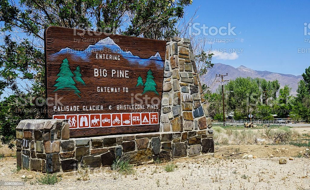Big Pine, California stock photo