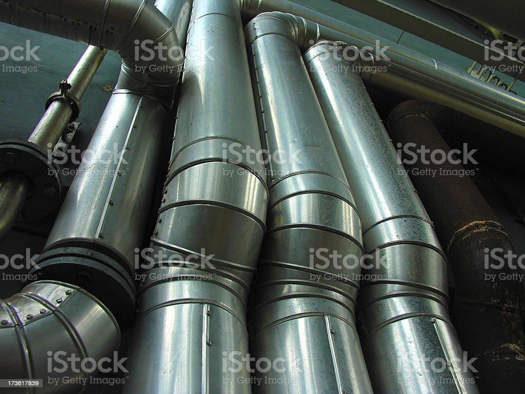 Big Pipes royalty-free stock photo