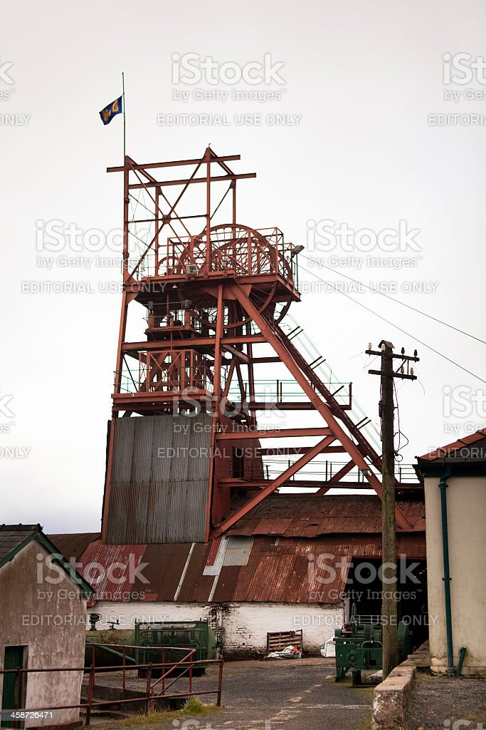 Big Pit Coalmine stock photo