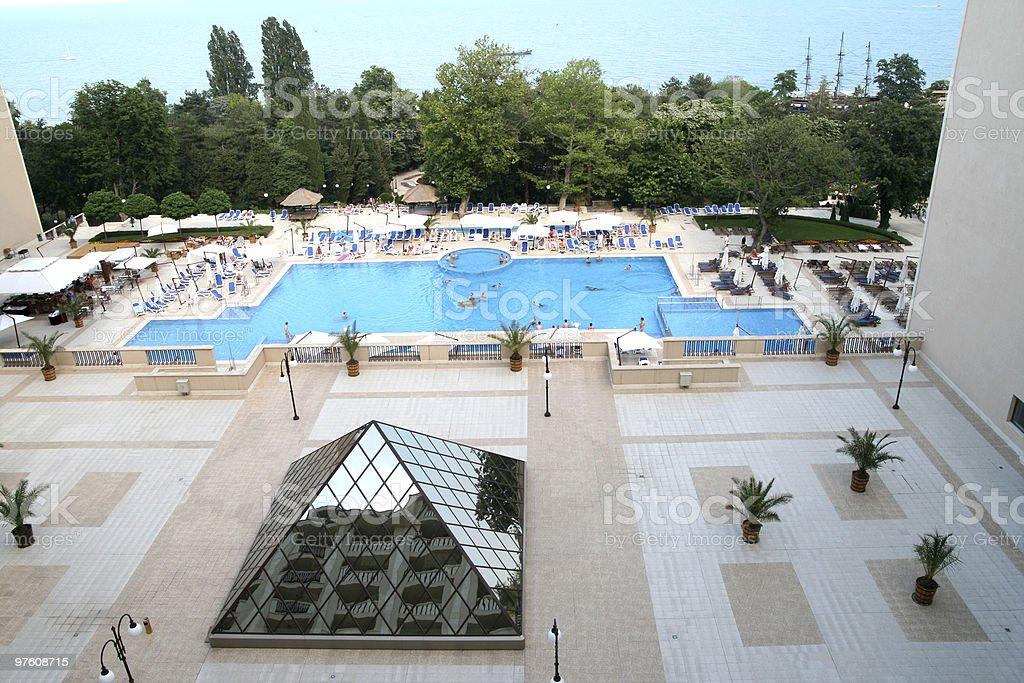Big pool stock photo