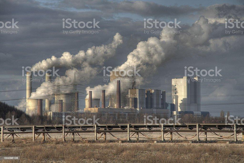 big power plant stock photo