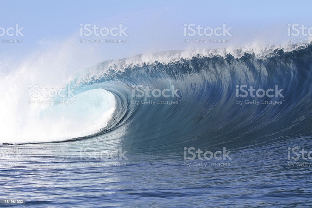 Big powerful wave stock photo