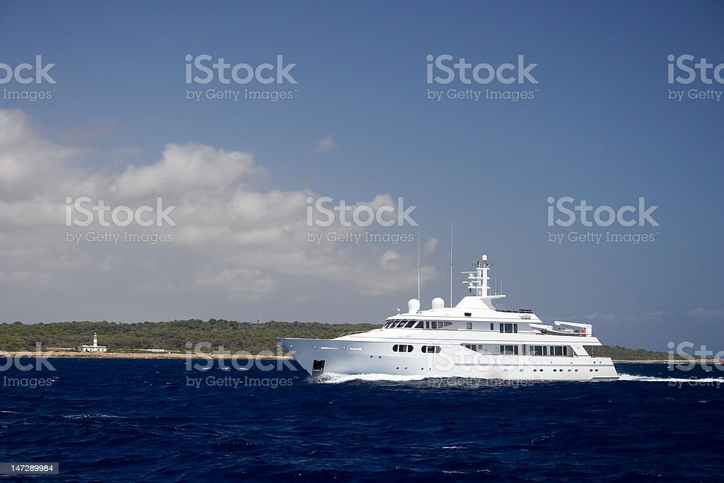 Big private motorboat. royalty-free stock photo