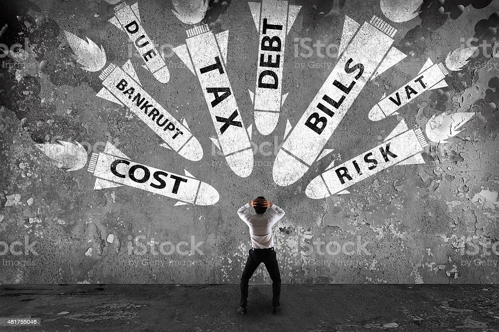 Big problem financial stock photo