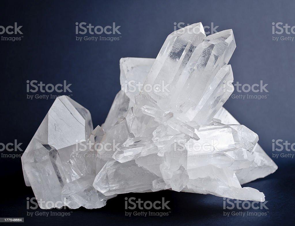 Big quartz crystals stock photo