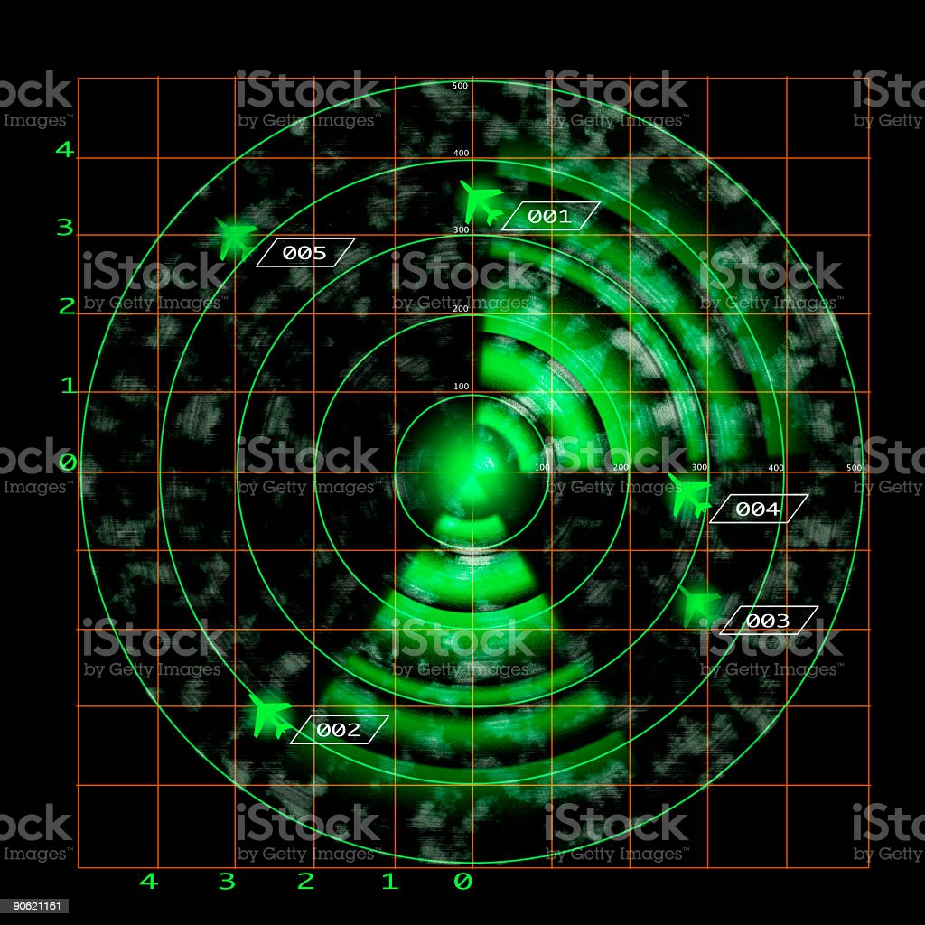 Big Radar screen stock photo