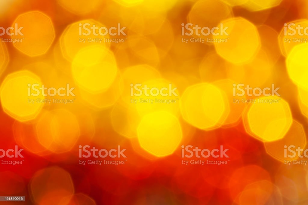 big red and yellow twinkling blurred Xmas lights stock photo
