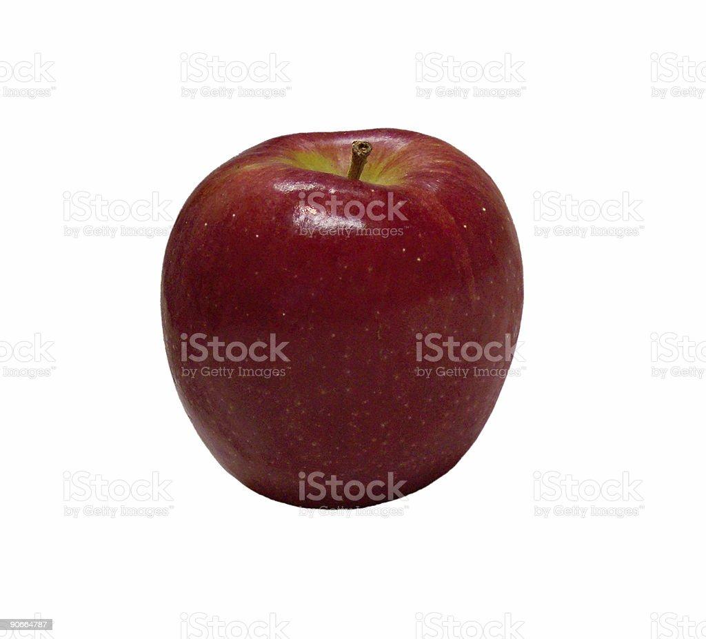 Big Red Apple stock photo