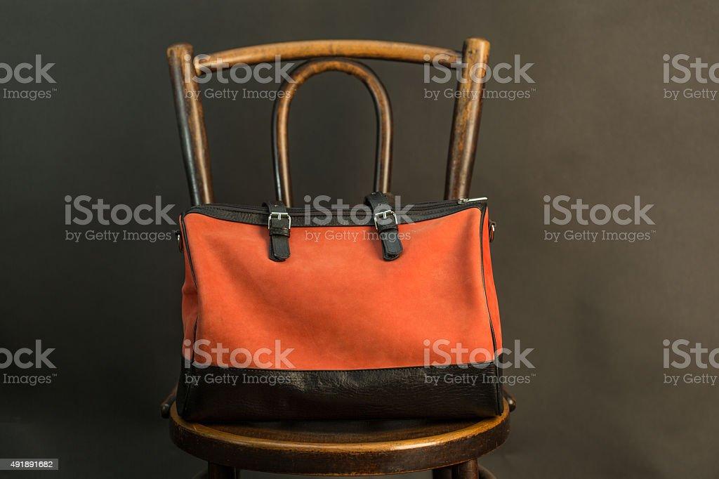 Big red bag stock photo